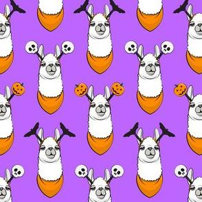 halloween loving llamas w/ headbands - purple