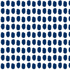 Navy dots midnight blue navy blue dots-ch