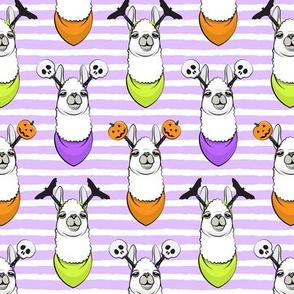 halloween loving llamas w/ headbands - purple stripes