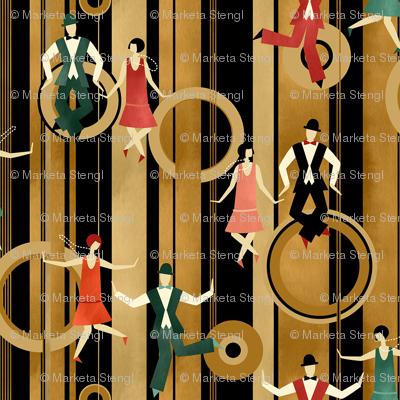 Art Deco Charleston Dancers / Small Scale