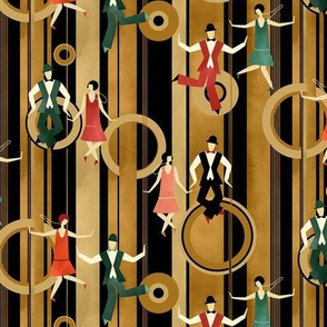 Art Deco Charleston Dancers / Small Scale