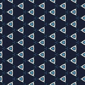 Cyan Tribal Triangles