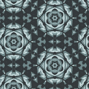 teal flower triangulation