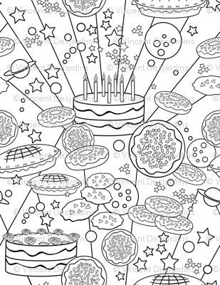 Baked Goodies Coloring Book