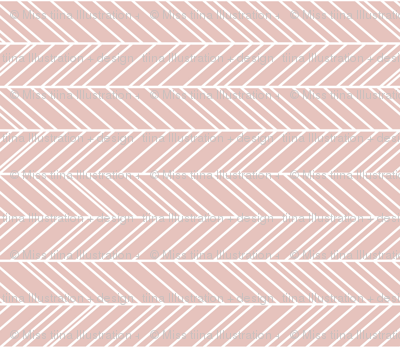 herringbone feathers dusty pink horizontal