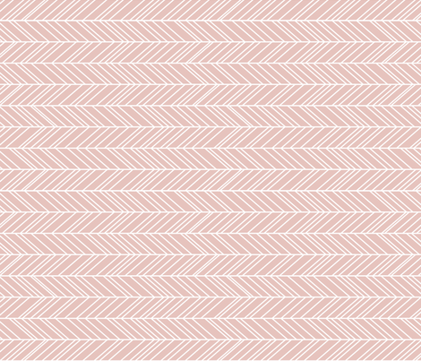 herringbone feathers dusty pink horizontal fabric by misstiina on Spoonflower - custom fabric