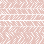 herringbone feathers dusty pink horizontal