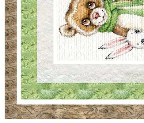 Woodland Friends Animals Fairy tales Blanket panel fabric by masha_by_masha on Spoonflower - custom fabric