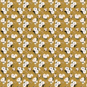 Janice Floral vintage mustard-micro