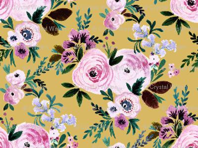 Victorian Floral XXS mustard-micro