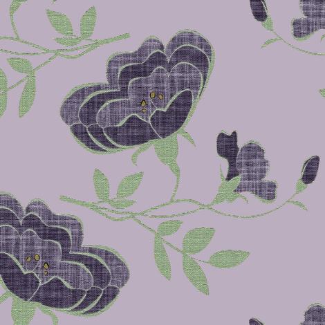Lindy Floral 2 on #baaebf fabric by anniedeb on Spoonflower - custom fabric