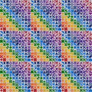 Rainbow AES on Grey