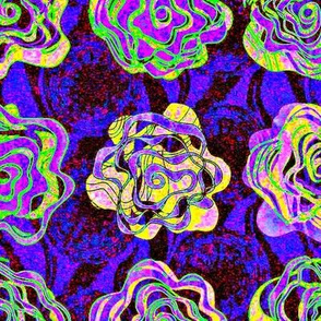 Electric Rose on violet ground large
