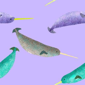 Narwhal purple