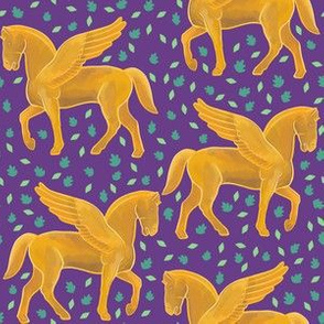 Pegasus on Purple