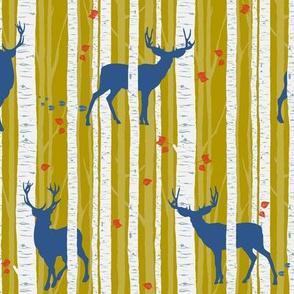 Bucks & Birches - Mustard