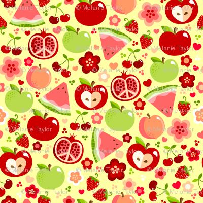 Cutie Fruities on Yellow