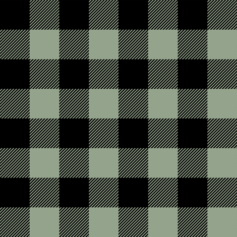 Plaid - Happy Camper || Wholecloth Quilt Top - Sage  fabric by littlearrowdesign on Spoonflower - custom fabric