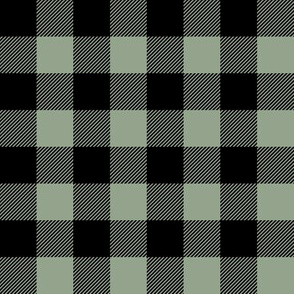 Plaid - Happy Camper || Wholecloth Quilt Top - Sage