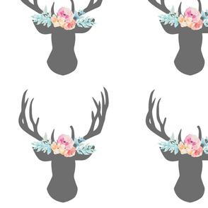 11 inch Floral Deer