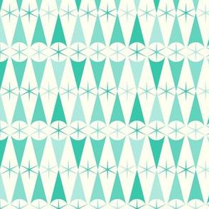 Harlequin Starburst - Aqua Gradation