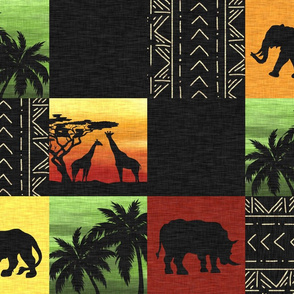 Serengeti Sunset Quilt - Color - African Safari Wildlife