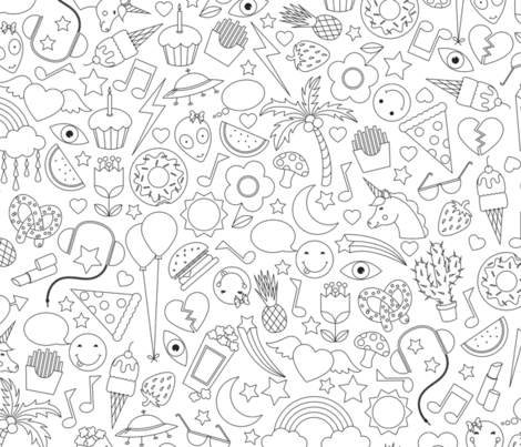 Doodle Print fabric by sarahjean on Spoonflower - custom fabric