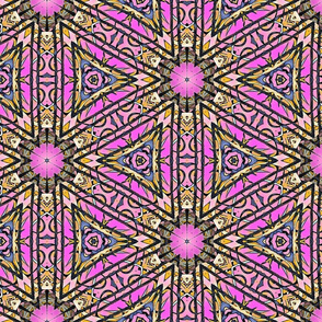 Pink & Yellow Emergent Triangulation