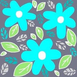 Modern Garden/ Retro Style  Blooms