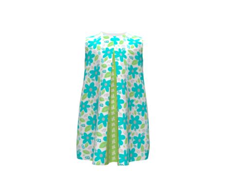 Fran's Floralback Blue/green