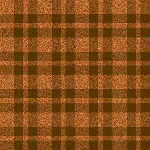 CD23 - Sparkly Copper and Brown Tartan Plaid