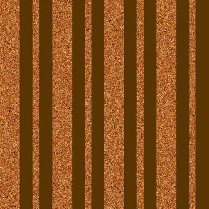 CD23   -  Sparkly Copper and Brown Stripes