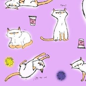 Sketch Linus Lavender Background
