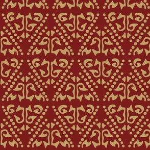 Mamluk - Burgundy & Gold