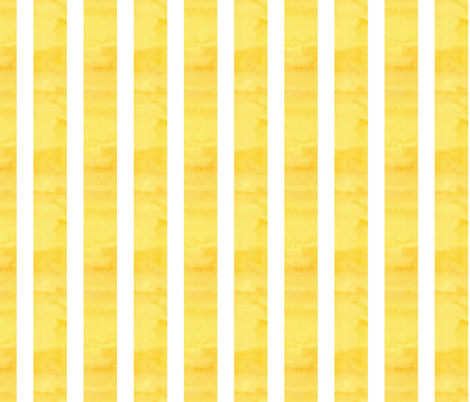 White Stripe on Yellow fabric by countrygarden on Spoonflower - custom fabric