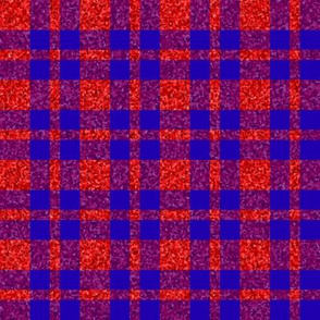 CD24 - Red Sparkle and  Bright Royal Blue Plaid