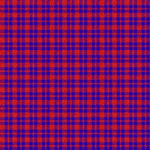 CD24  - Tiny Red Sparkle and  Bright Royal Blue Plaid