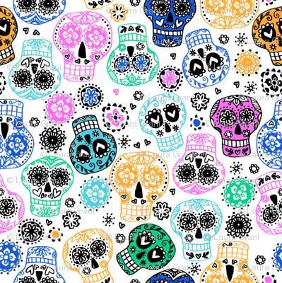 sugar skulls 3 small