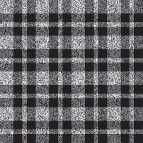 CD25 - Sparkly Grey and Charcoal Tartan Plaid