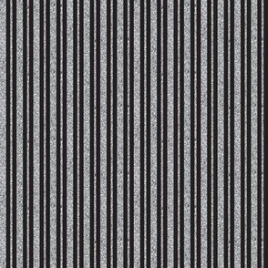 CD25 -Narrow  Grey Sparkle Stripes on Charcoal Solid