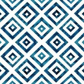 Blue Indigo Squares