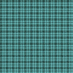 CD28 - Tiny Rustic Sparkly Teal Tartan Plaid