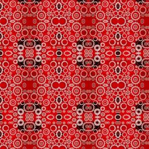 Red steampunk gears