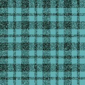 CD28  -  Rustic Sparkly Teal Tartan Plaid