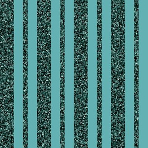 CD28 - Rustic Sparkly Teal Stripe