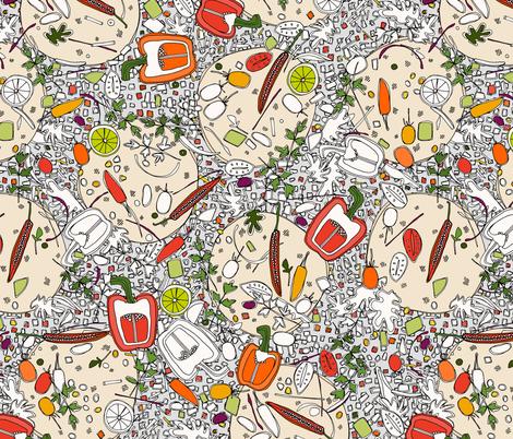 taco pop fabric by scrummy on Spoonflower - custom fabric