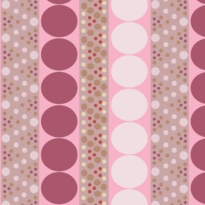 Bubble Stripe in Pinks and Raspberry