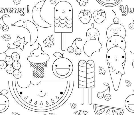 yummyfood fabric by sarah_portanier on Spoonflower - custom fabric