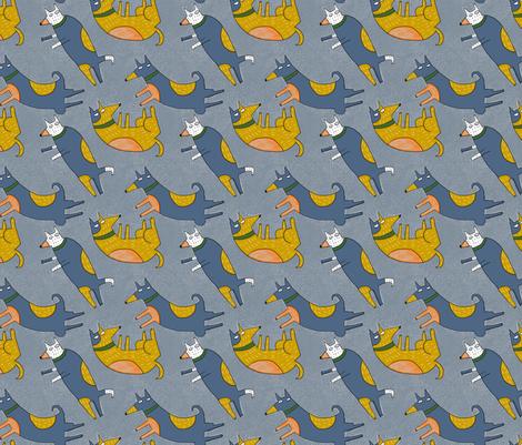 bluedogprint fabric by kimmurton on Spoonflower - custom fabric