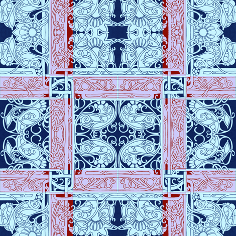 Set the Controls to 1911 and Hold On fabric by edsel2084 on Spoonflower - custom fabric
